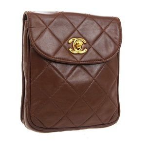 CHANEL Quilted CC Logos Waist Bum Bag Pouch